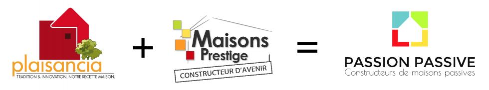 logo bannierre Plaisancia + Maisons Prestige = PASSION PASSIVE