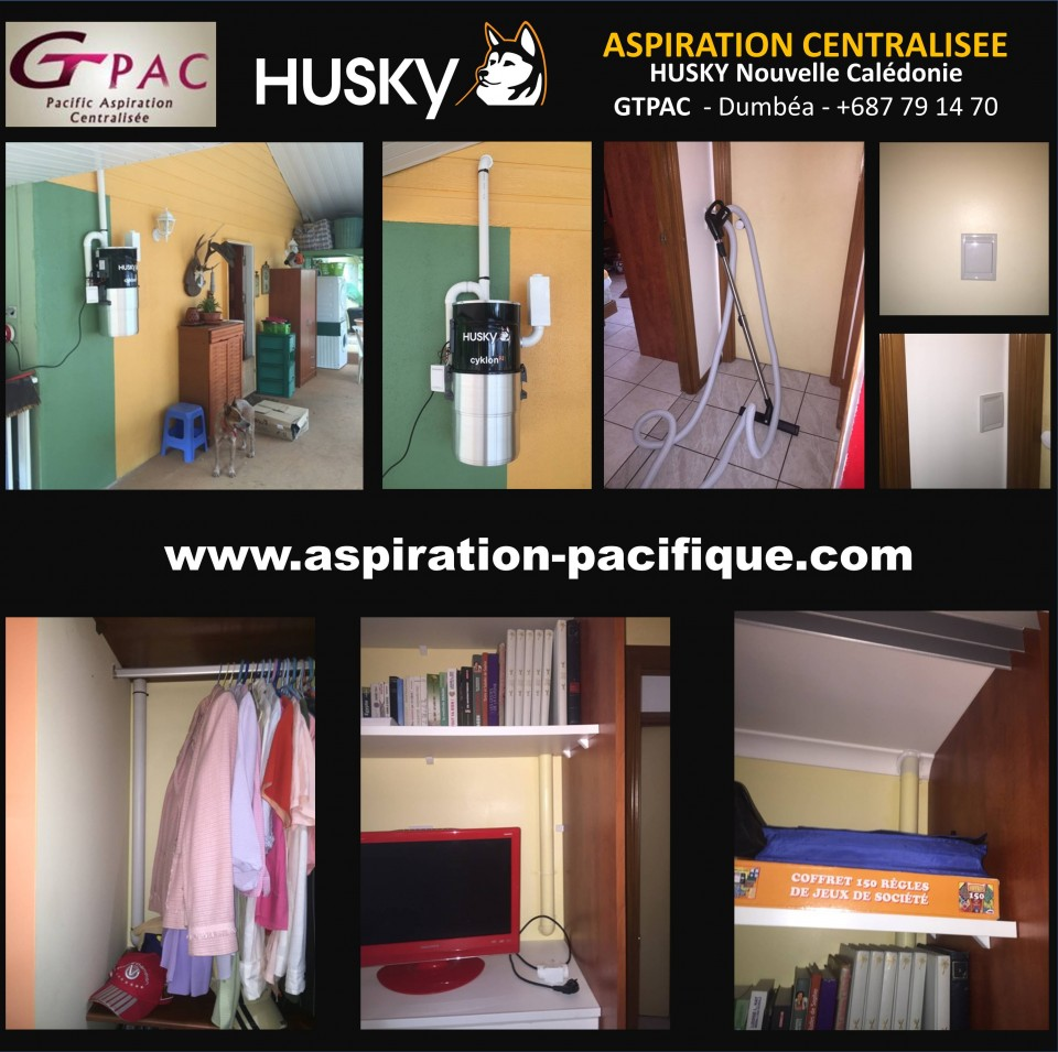installation par la soci t husky aspiration centralis e. Black Bedroom Furniture Sets. Home Design Ideas