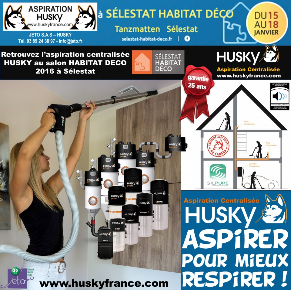 salon habitat d co 2016 s lestat aspiration centralis e husky france. Black Bedroom Furniture Sets. Home Design Ideas