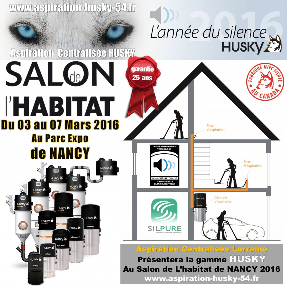 salon habitat deco 2016 nancy aspiration centralis e husky france. Black Bedroom Furniture Sets. Home Design Ideas