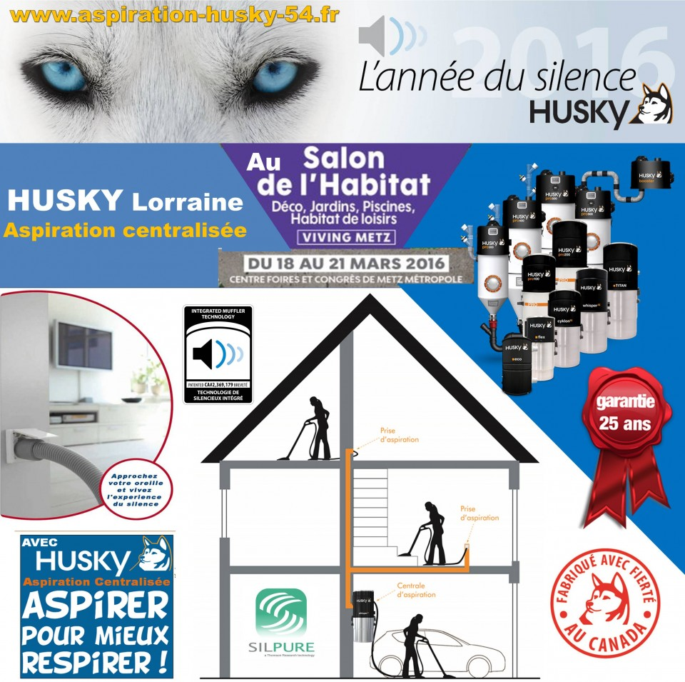 le salon de l habitat viving de metz 2016 aspiration centralis e husky france. Black Bedroom Furniture Sets. Home Design Ideas