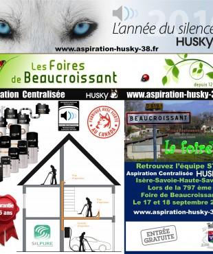 HUSKY aspiration centralisée présent lors de la 797 ème Foire de Beaucroissant