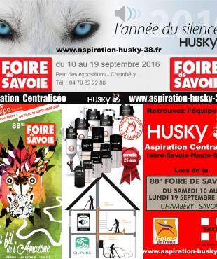 L' aspiration centralisée HUSKY à la 88 ème FOIRE DE SAVOIE à CHAMBÉRY