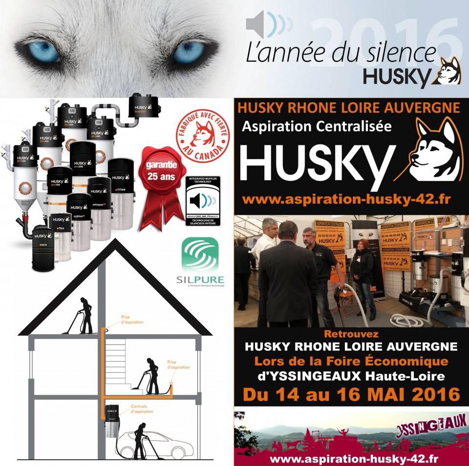 aspiration centralis e husky pr sent lors de la foire conomique d yssingeaux aspiration. Black Bedroom Furniture Sets. Home Design Ideas