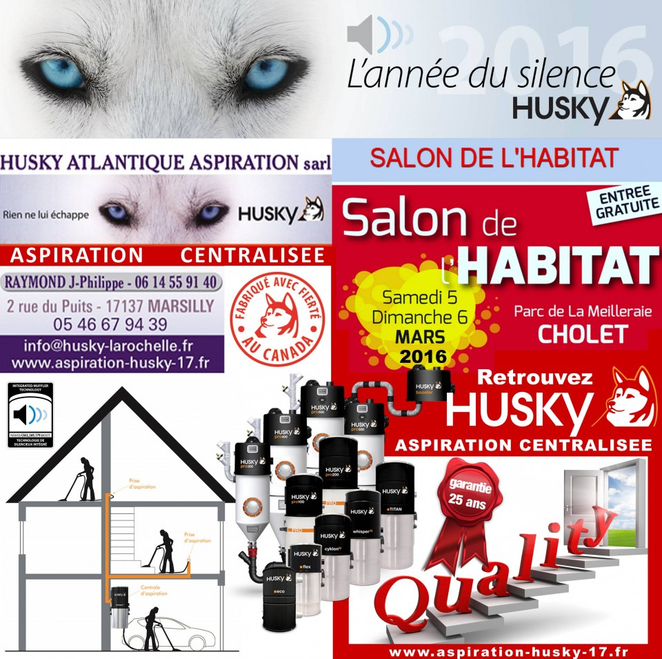 salon habitat de cholet 2016 aspiration centralis e husky aspiration centralis e husky france. Black Bedroom Furniture Sets. Home Design Ideas