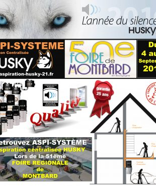 L'aspiration centralisée à la 51ème FOIRE RÉGIONALE de MONTBARD 2016