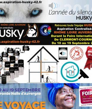 Aspiration centralis e husky rh ne loire auvergne for Foire internationale de clermont cournon