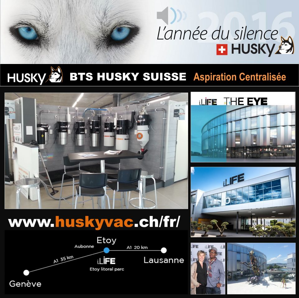 nouveau show room husky aspiration centralis e pour l quipe bts husky suisse aspiration. Black Bedroom Furniture Sets. Home Design Ideas