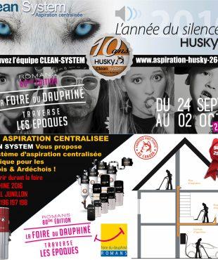 L' aspiration centralisée lors de la 80 ème édition de la Foire du Dauphiné 2016