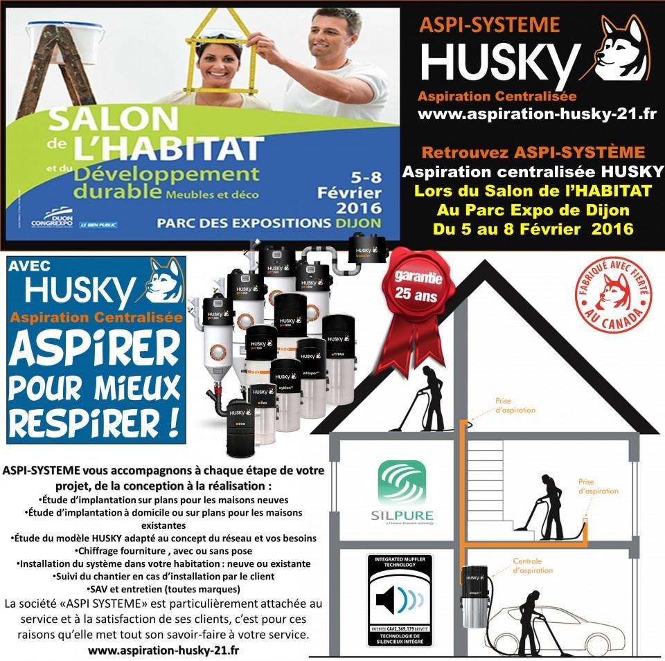 salon de l habitat et du d veloppement durable dijon 2016 aspiration centralis e husky france. Black Bedroom Furniture Sets. Home Design Ideas