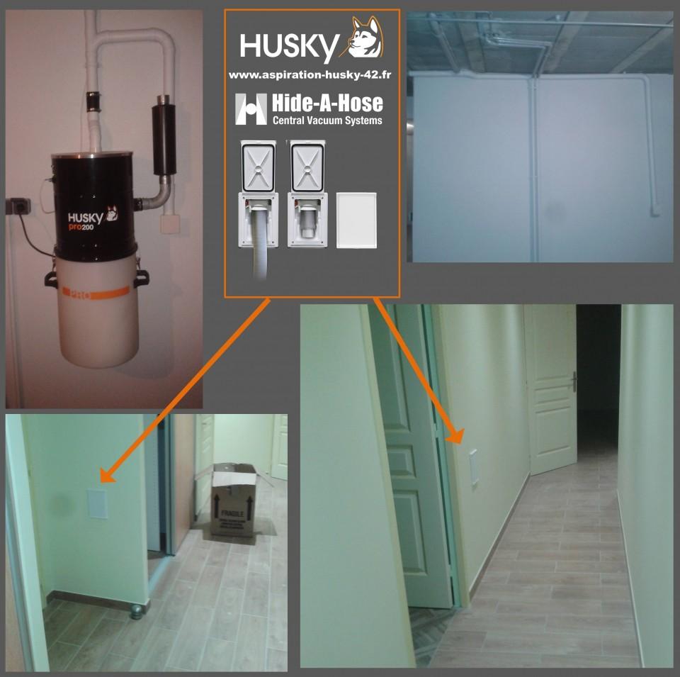 retraflex l original de hide a hose install par husky loire auvergne aspiration centralis e. Black Bedroom Furniture Sets. Home Design Ideas