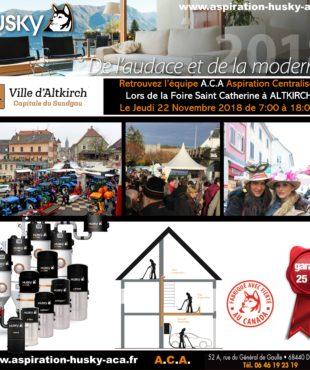 L' aspiration centralisée lors de la Sainte Catherine à Altkirch en Alsace